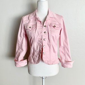 Live A Little Pink Demin Style Button Jacket